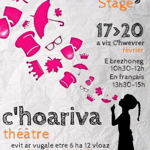 Stages de théâtre pour enfants Février 2020