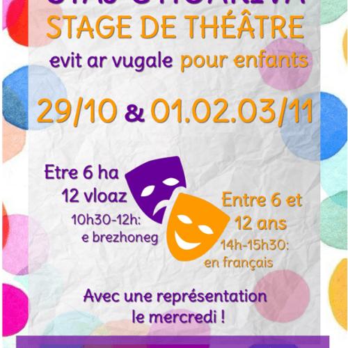Stage de théâtre pour enfants Octobre-Novembre 2021